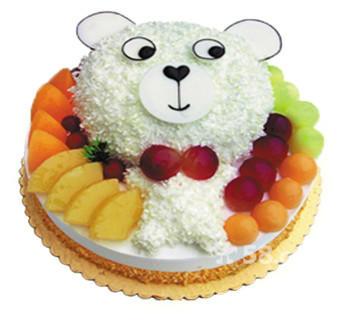 可爱的小熊蛋糕图片