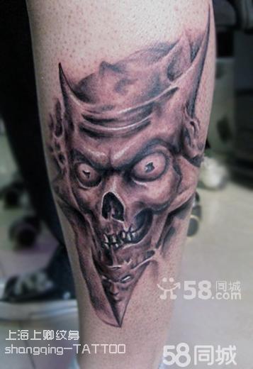 欧美骷髅纹身图案