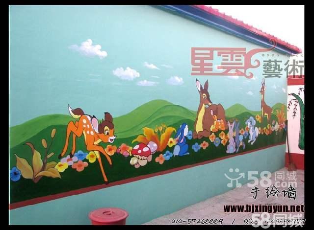 幼儿园壁画 亲子园卡通画