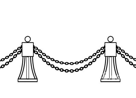 铁链简笔画矢量图