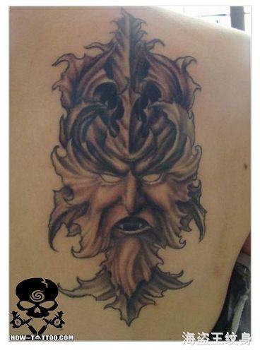 海盗王纹身图片