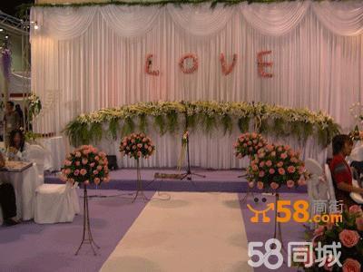 室内花系婚礼舞台布置