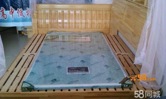 清漆实木床—58商家店铺