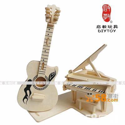 模型-亲子益智玩具积木-手工创意礼物-钢琴与吉他