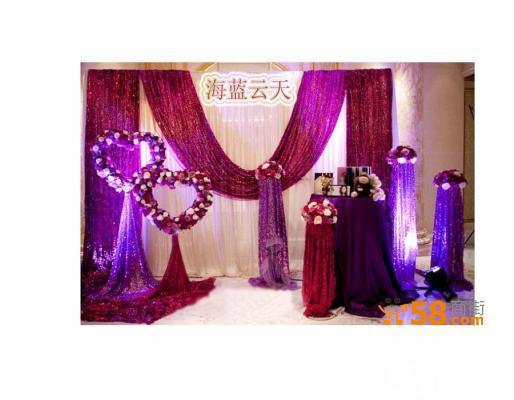 荧光wedding牌,专业背景架,led串灯及彩纱装饰) 花门经典时尚欧式华亭