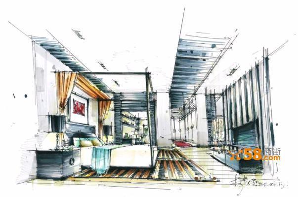 杭州滕禾手绘培训--室内设计手绘培训—58商家店铺